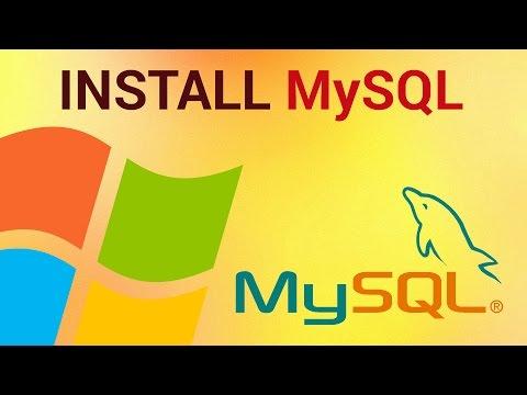 How to install MySQL on Windows 7