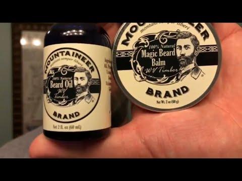 Mountaineer Brand Beard Oil, Balm, Wash Review - West Virginia Timber Scent (видео)
