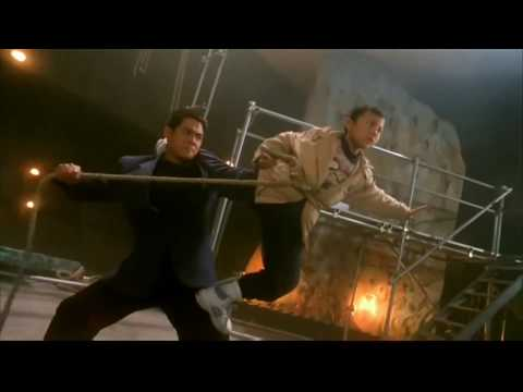 Jetli and son fight. film action