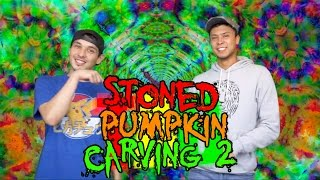 Stoned Pumpkin Carving 2 | Pre-Rolled Thursday by Take a Break with Aaron & Mo