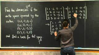 Basis And Dimension | MIT 18.06SC Linear Algebra, Fall 2011