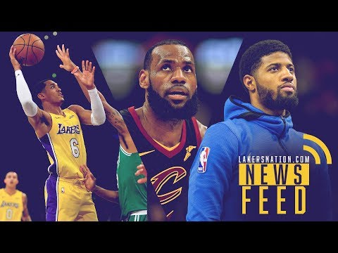 Video: LN News Feed: Lakers Win Over Celtics, Lakers-Cavs Trade Rumors & Paul George's All-Star Snub