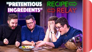 PRETENTIOUS INGREDIENTS Recipe Relay Challenge | Pass it on S2 E5 by SORTEDfood