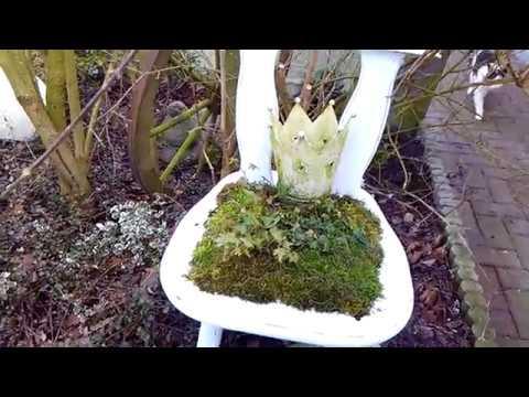Garten Deko 🌹Stuhl mit Mooskissen 🌹 einfach selber machen