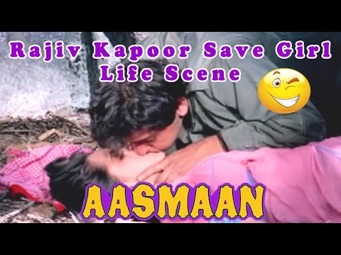 Rajiv Kapoor Save Girl Life Scene from Aasmaan || Action Hindi Movie
