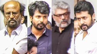 Video Rajini, Ajith, Suriya, Sivakarthikeyan Pays Last Respect to Kalaignar Karunanidhi! MP3, 3GP, MP4, WEBM, AVI, FLV Oktober 2018