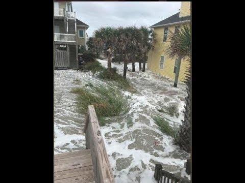 Новости об урагане Флоренс в Америке (США). Штаты Южная и Северная Каролина подверглись сильному ...
