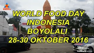 Boyolali Indonesia  City new picture : World food day Indonesia Boyolali 28-30 Oct 2016