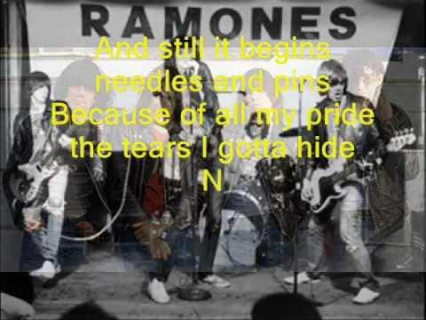 RAMONES - Needles and Pins (lyrics)