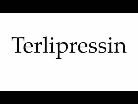 How to Pronounce Terlipressin