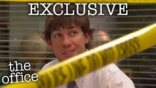 Jim & Dwight's Police Tape Prank (EXCLUSIVE  - The Office US