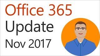 Office 365 Update for November 2017