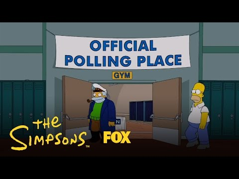 voting - Who will Homer Simpson vote for in the 2012 Elections? Barack Obama or Mitt Romney? Subscribe now for more The Simpsons clips: http://fox.tv/SubscribeAnimati...