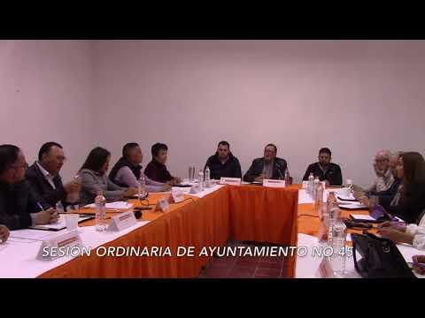 Sesión Ordinaria No. 45 de Ayuntamiento 30 de noviembre de 2017