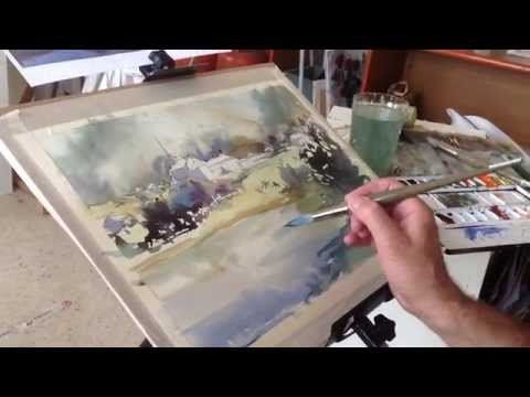 Como Pintar Acuarela Paso A Paso. Watercolor Demo. Watercolor Tutorial.