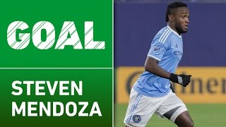 GOAL: Steven Mendoza scores a stunning goal before half by Major League Soccer