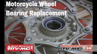 8. Motorcycle Wheel Bearing Replacement