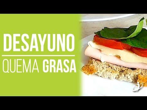 Dietas para adelgazar - DESAYUNO para Bajar de Peso -Sandwich de Jamón y Queso Bajo en Carbohidratos