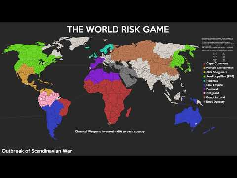 4chan Risk Game Timelapse :: Full World map :: 10 Nations ::
