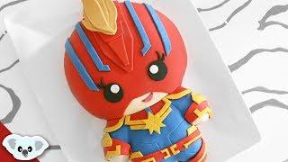 Captain Marvel Kawaii Cake | Avengers Endgame | Cake Art | Koalipops