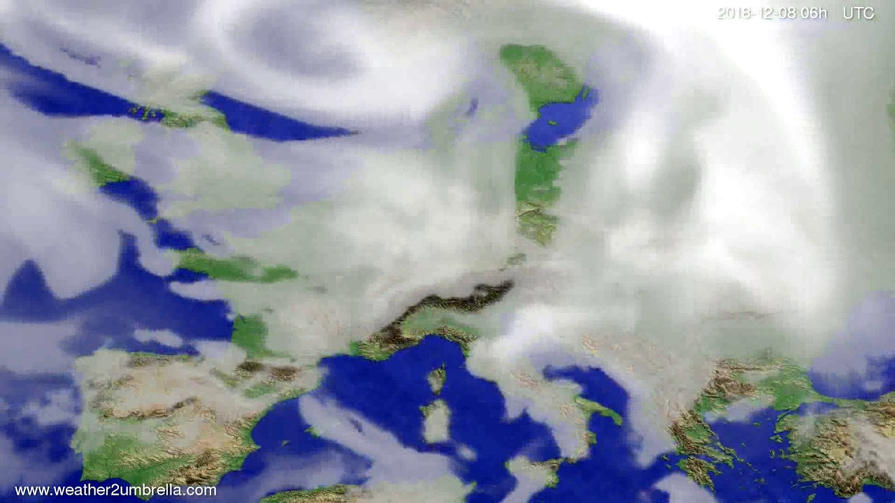 Cloud forecast Europe 2018-12-05