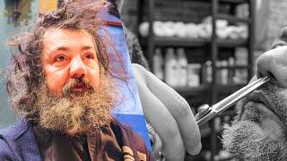 Zmienił go nie do poznania. Zaprosił bezdomnego do swojego salonu fryzjerskiego – ZOBACZ