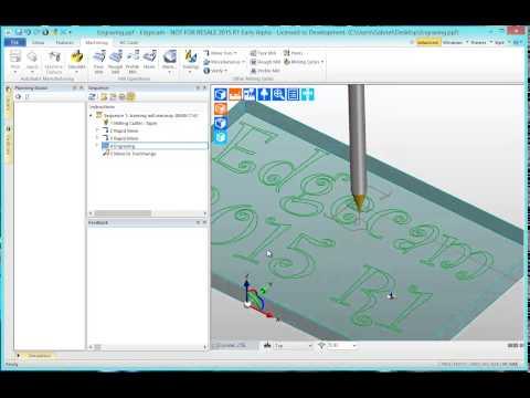New Engraving - Edgecam 2015 R1 (видео)