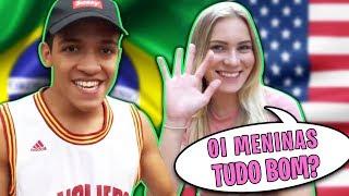 ENSINANDO PORTUGUÊS PRA MINHA NAMORADA GRINGA!