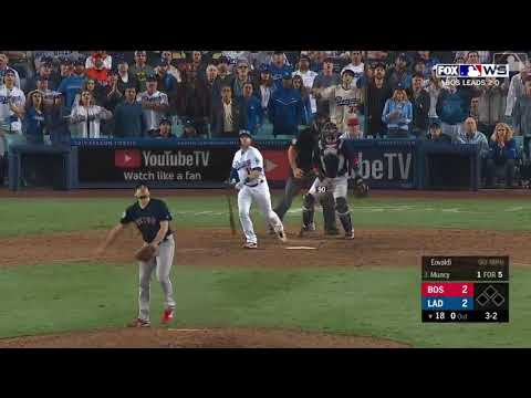 Max Muncy Walk Off Solo Home Run vs Red Sox   Dodgers vs Red Sox World Series Game 3