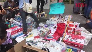 Poblanos se solidarizan y llevan ayuda centros de acopio y zócalo