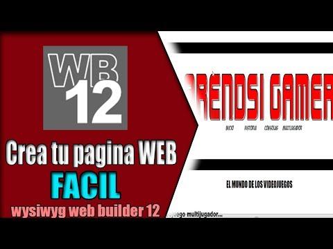 Como crear una pagina WEb FACIL || wysiwyg web builder 11/10 ||