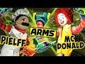 Abm  Crazy Anger Madness !! Ronald Mcdonald Vs Chef Pielff !! Arms Match !! Hd