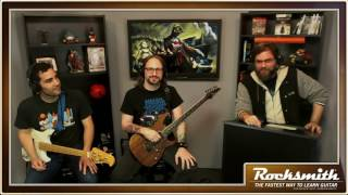 """This week Jarred McAdams takes the helm as the team plays songs from the Live song pack, including """"I Alone,"""" """"All Over You,"""" """"Selling the Drama,"""" and """"Lightning Crashes""""! -- Watch live at https://www.twitch.tv/rocksmithgame"""