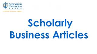 Scholarly Business Articles