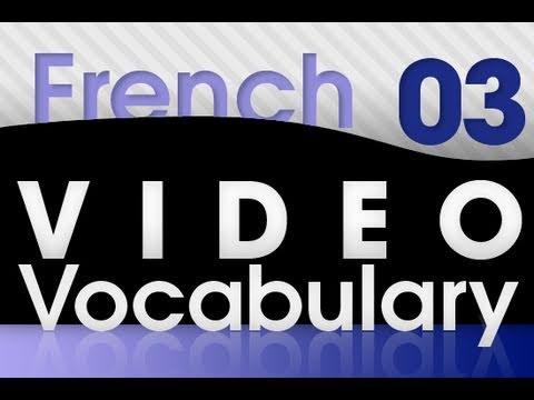 Französisch lernen - Video Vokabeln #3