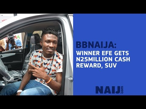 BBNaija Winner Efe Receives N25million Cash, SUV Rewards | Legit TV