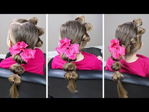 Braid hairstyles - LITTLE GIRL HAIRSTYLES  EASY BUBBLE BRAID  5 MINUTE HAIRSTYLE