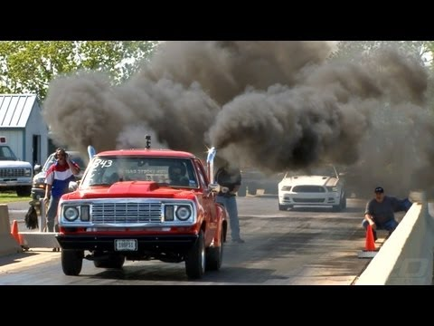 1000-horsepower Cummins diesel gets down on the track