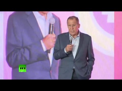 Сергей Лавров выступает на  Всероссийском молодежном образовательном форуме