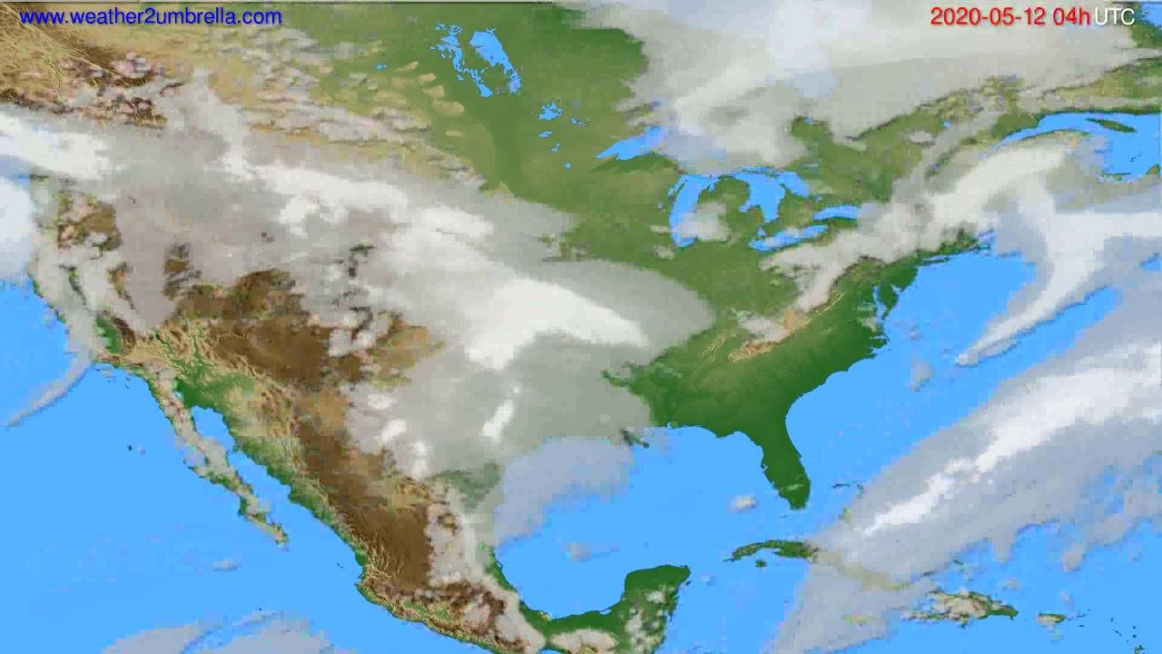 Cloud forecast USA & Canada // modelrun: 12h UTC 2020-05-11