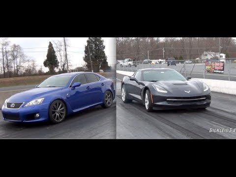 2014 C7 Corvette vs. Lexus IS-F