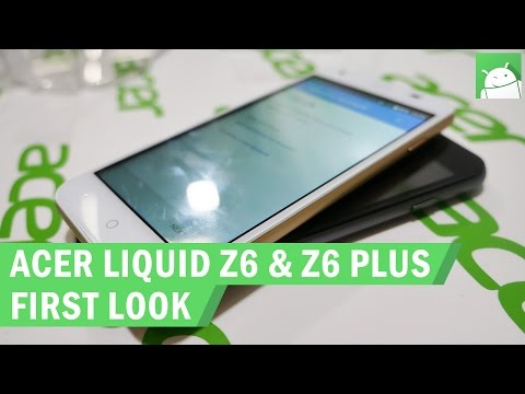 Acer Liquid Z6 & Z6 Plus hands on at IFA 2016