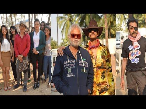 On location With Jimmy Shergil, Sanjay Mishra And Vijayraj For Film Gun Pe Done