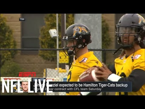 Johnny Manziel has 'been pretty accurate' in practice w/ CFL's Hamilton Tiger-Cats | NFL Live | ESPN (видео)
