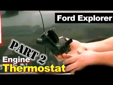 2002-2008 Ford Explorer Thermostat Housing Coolant Leak Repair Part 2