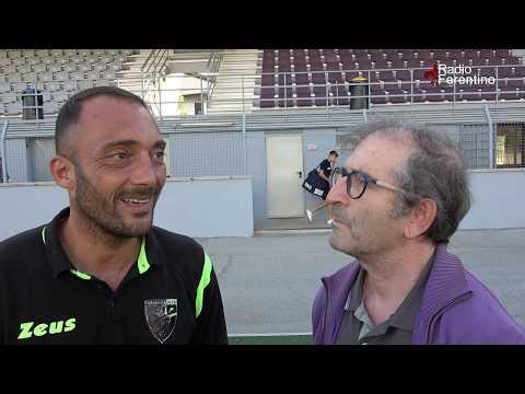 Ferentino Calcio – Atletico Torrenova. Le interviste di fine partita.