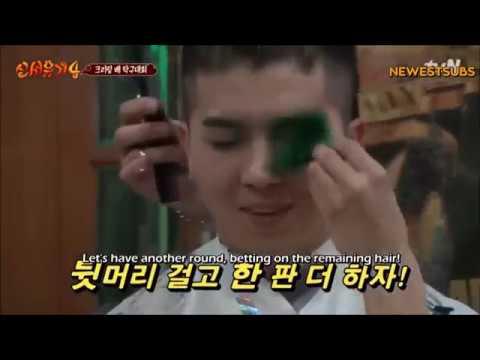 Mino get his hair cut