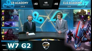 Video Cloud 9 Academy vs CLG Academy | Week 7 of S8 NA Academy League Spring 2018 | C9A vs CLGA MP3, 3GP, MP4, WEBM, AVI, FLV Juni 2018