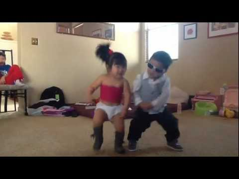 bimbi ballano il gangnam style