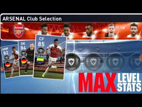 Max Stats Of Arsenal Club Selection Players | PES 2019
